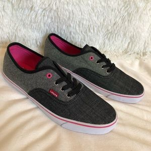 New LEVI'S Monterey Chambray Sneakers Size 10